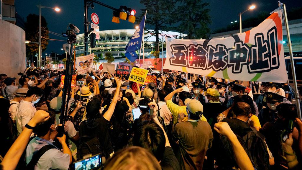 Protesta inauguracion olimpiadas Tokio 2