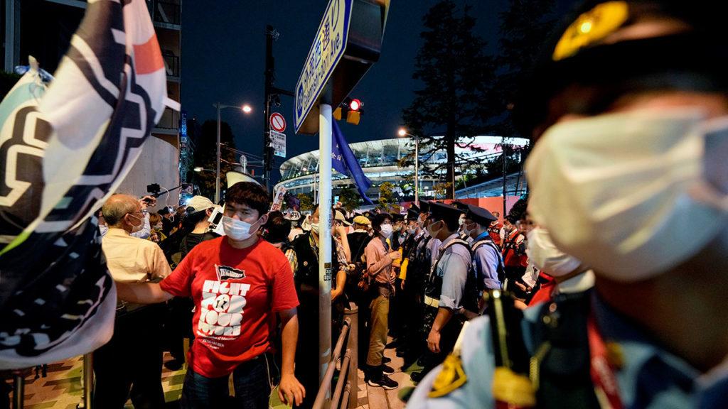 Protesta inauguracion olimpiadas Tokio 3
