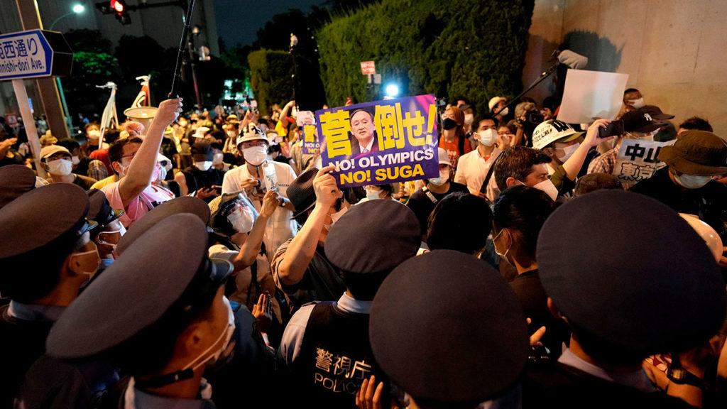 Protesta inauguracion olimpiadas Tokio 4