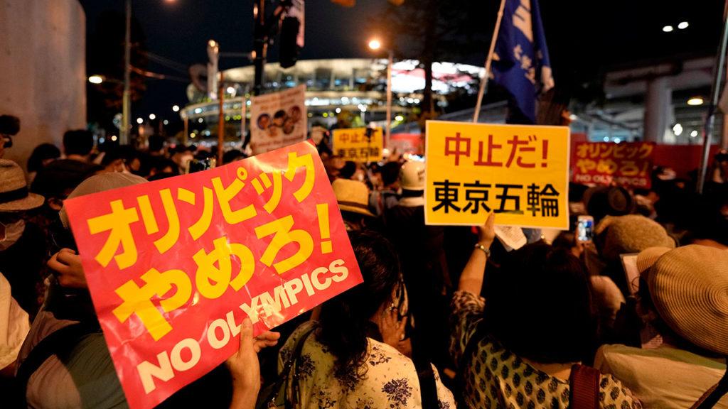 Protesta inauguracion olimpiadas Tokio 5