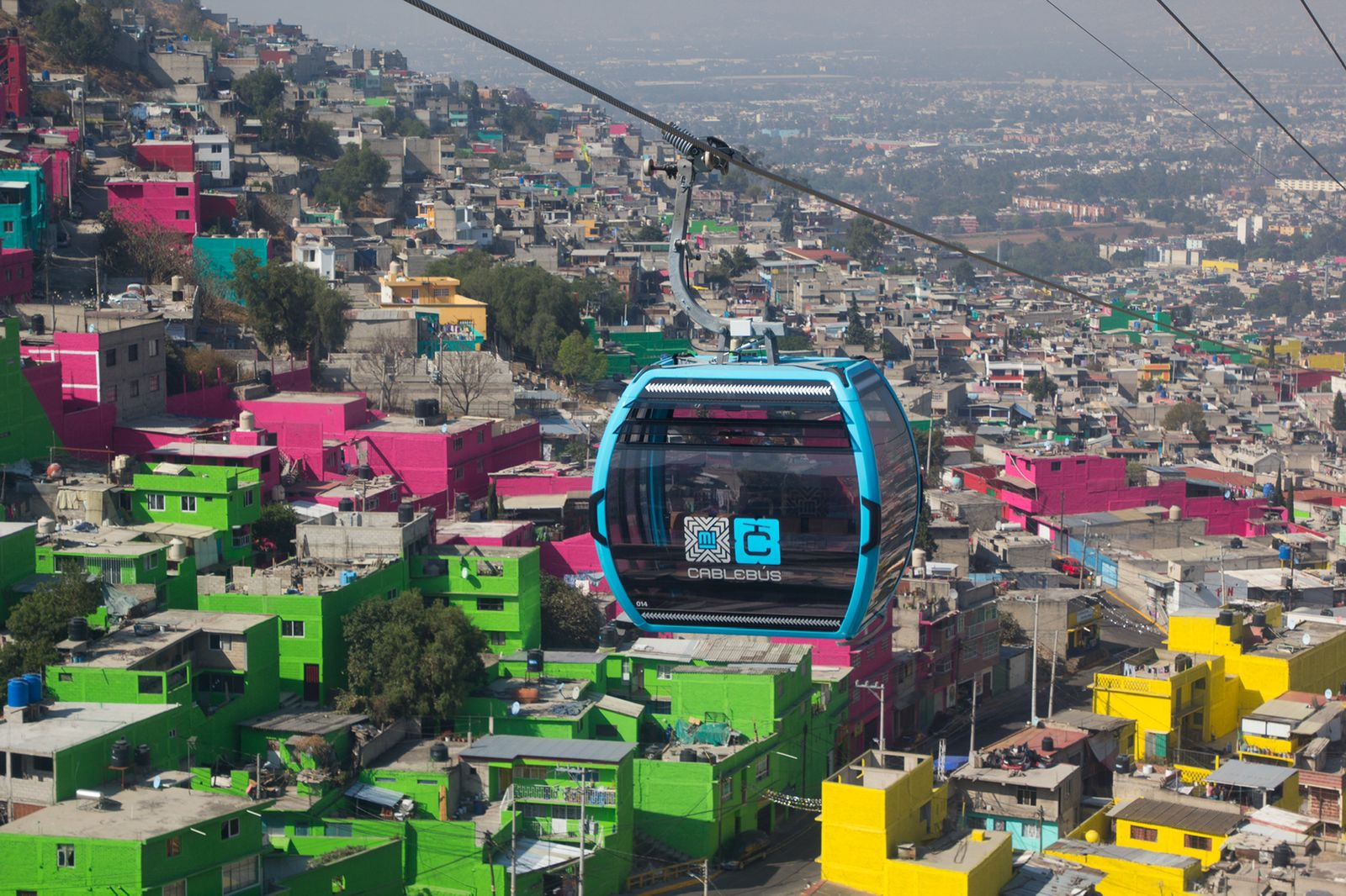 Una red de teleféricos se teje sobre el Valle de México