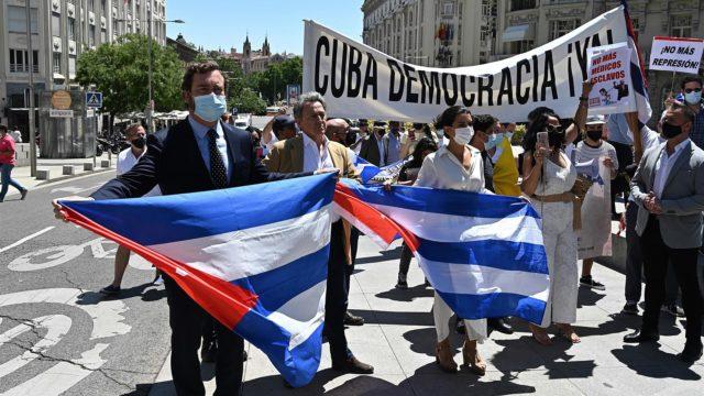 Protestas en Cuba. Foto: EFE