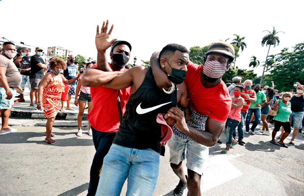 Cuba Manifestantes se toman la calle en La Habana