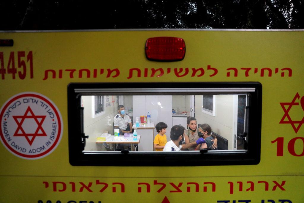 Vacunación menores en Israel