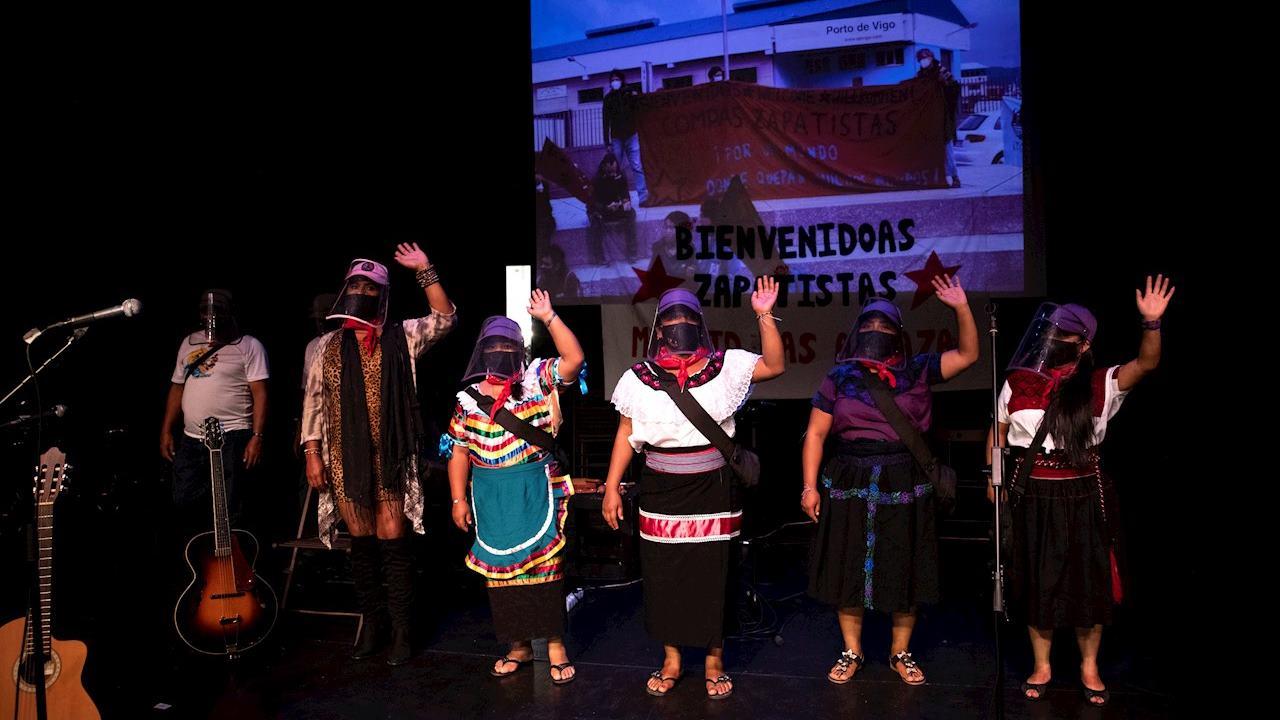 'Escuadrón' del EZLN llega a Madrid en su lucha contra la desigualdad