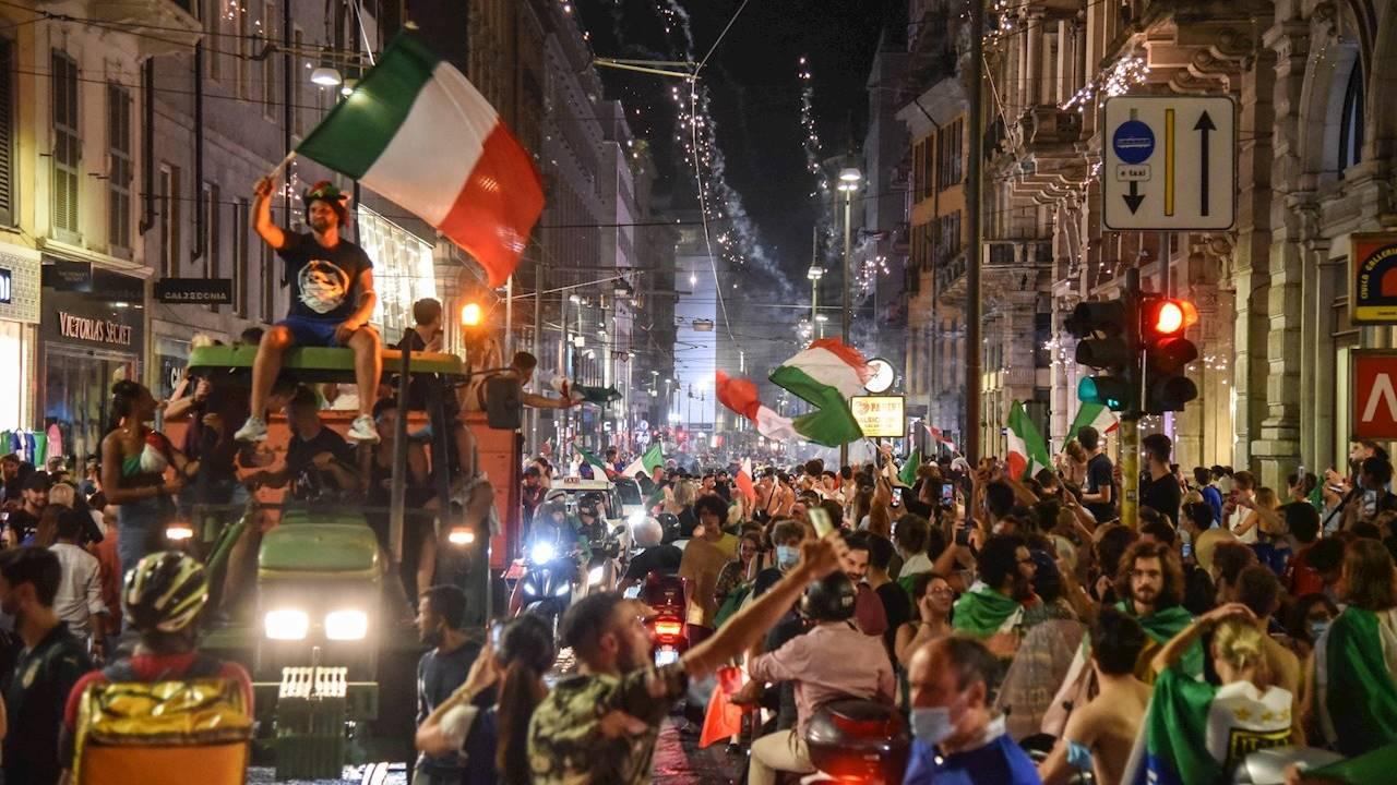 Celebraciones por la Eurocopa dejan un muerto y varios heridos en Italia