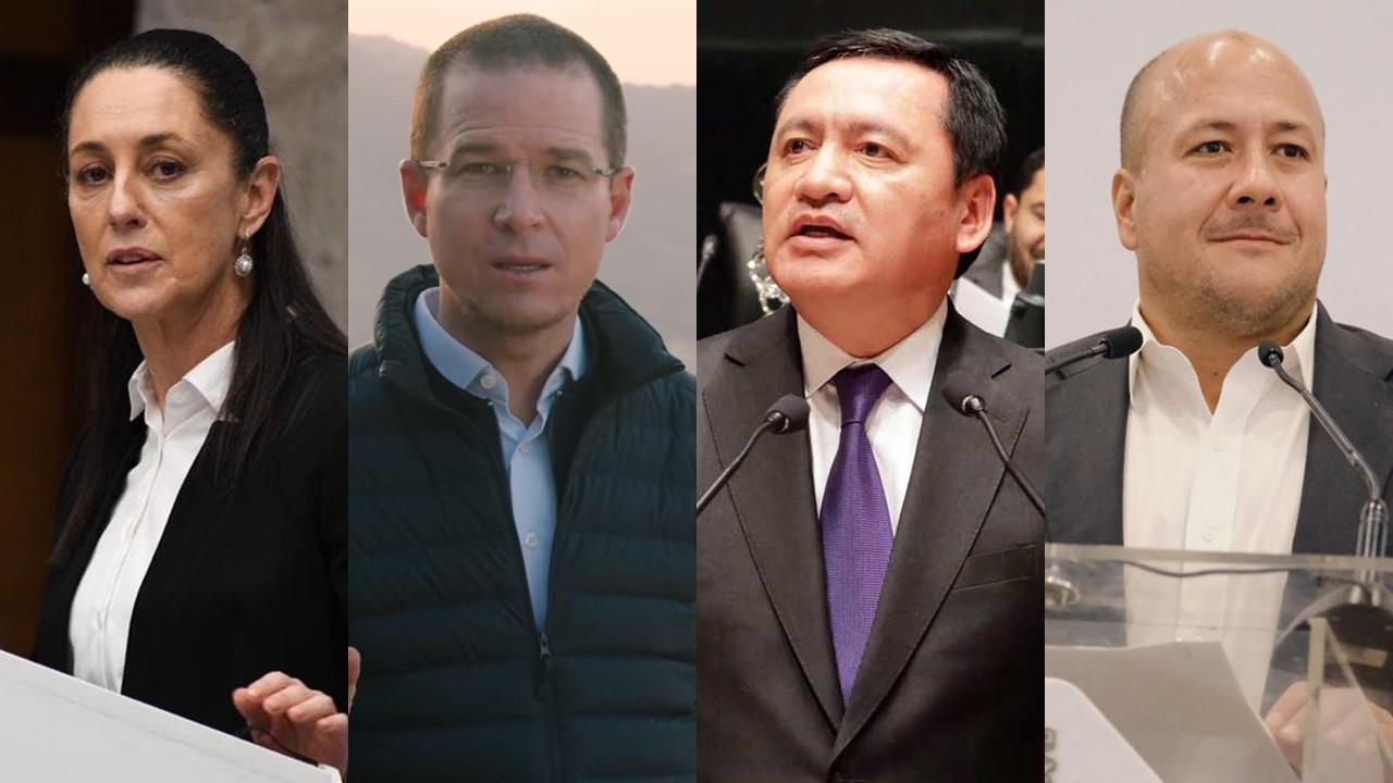 Sheinbaum, Anaya, Osorio y Alfaro, los preferidos para ser candidatos a la Presidencia: encuesta
