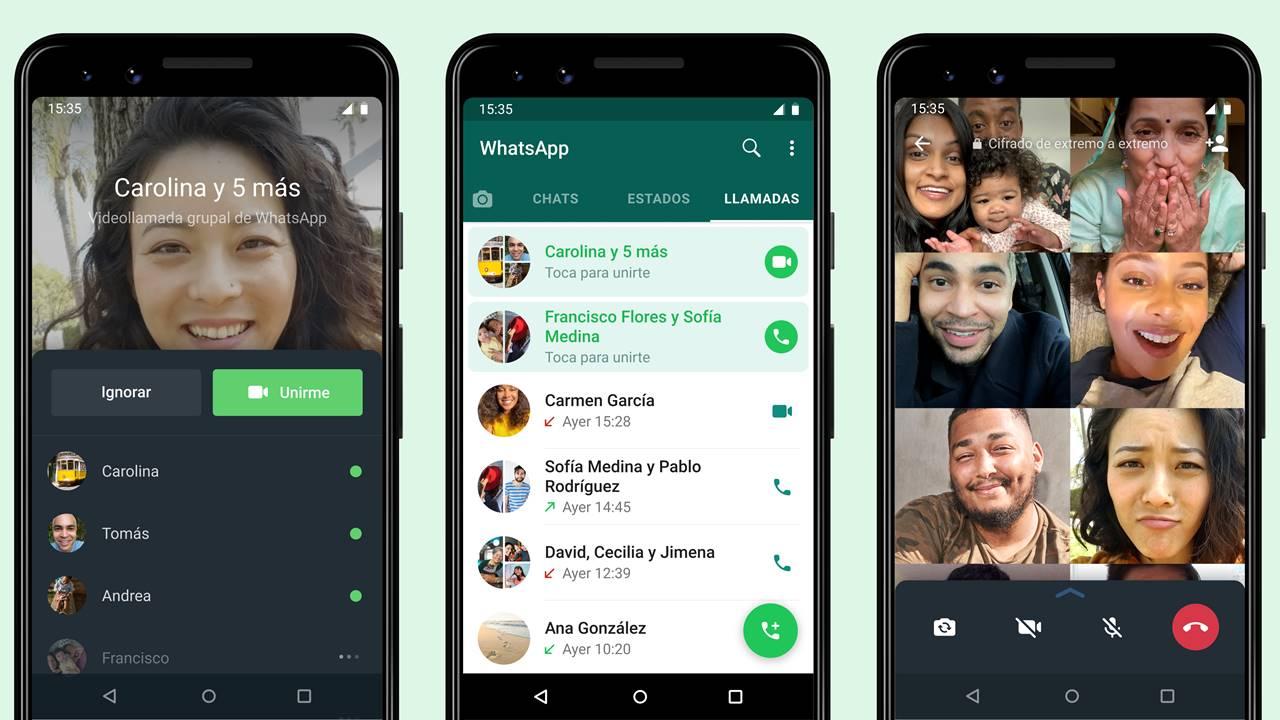 WhatsApp ya te permite entrar a una videollamada grupal si ya comenzó