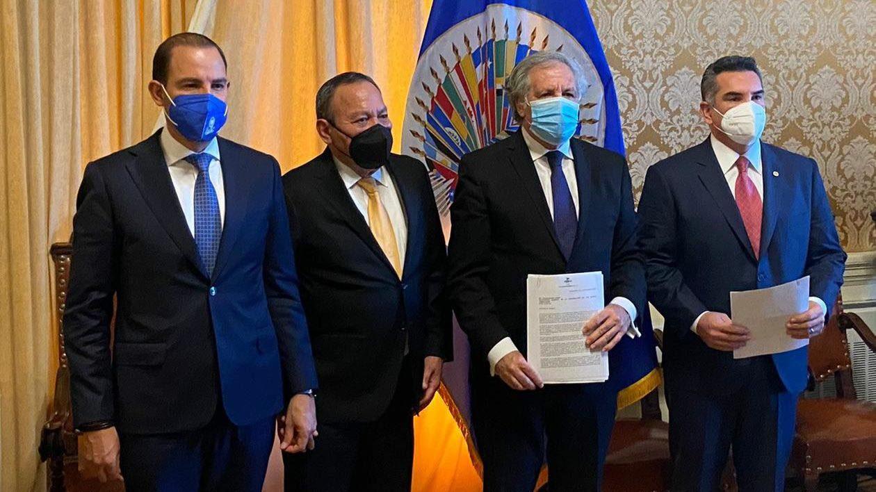 PRI, PAN y PRD denuncian ante OEA intromisión del crimen en elecciones