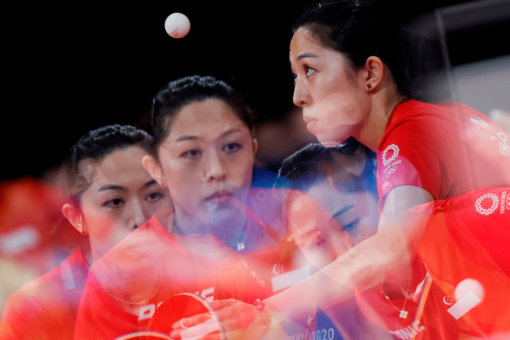 Mengyu Yu of Singapore Olympic Games 2020 Table Tennis