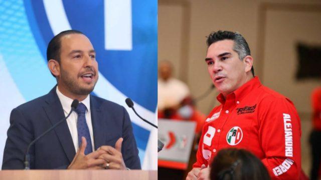 Marko Cortés y Alejandro Moreno