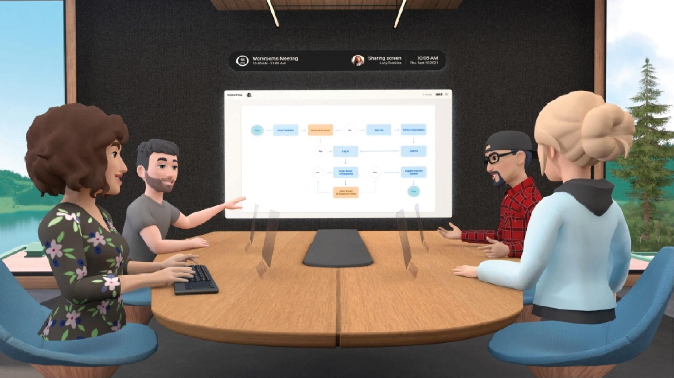 Facebook lanza app de trabajo remoto en realidad virtual