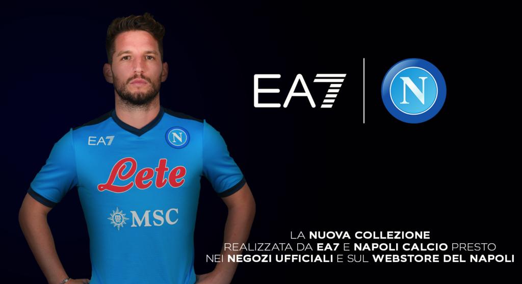 Camiseta del Napoli con el sello Armani