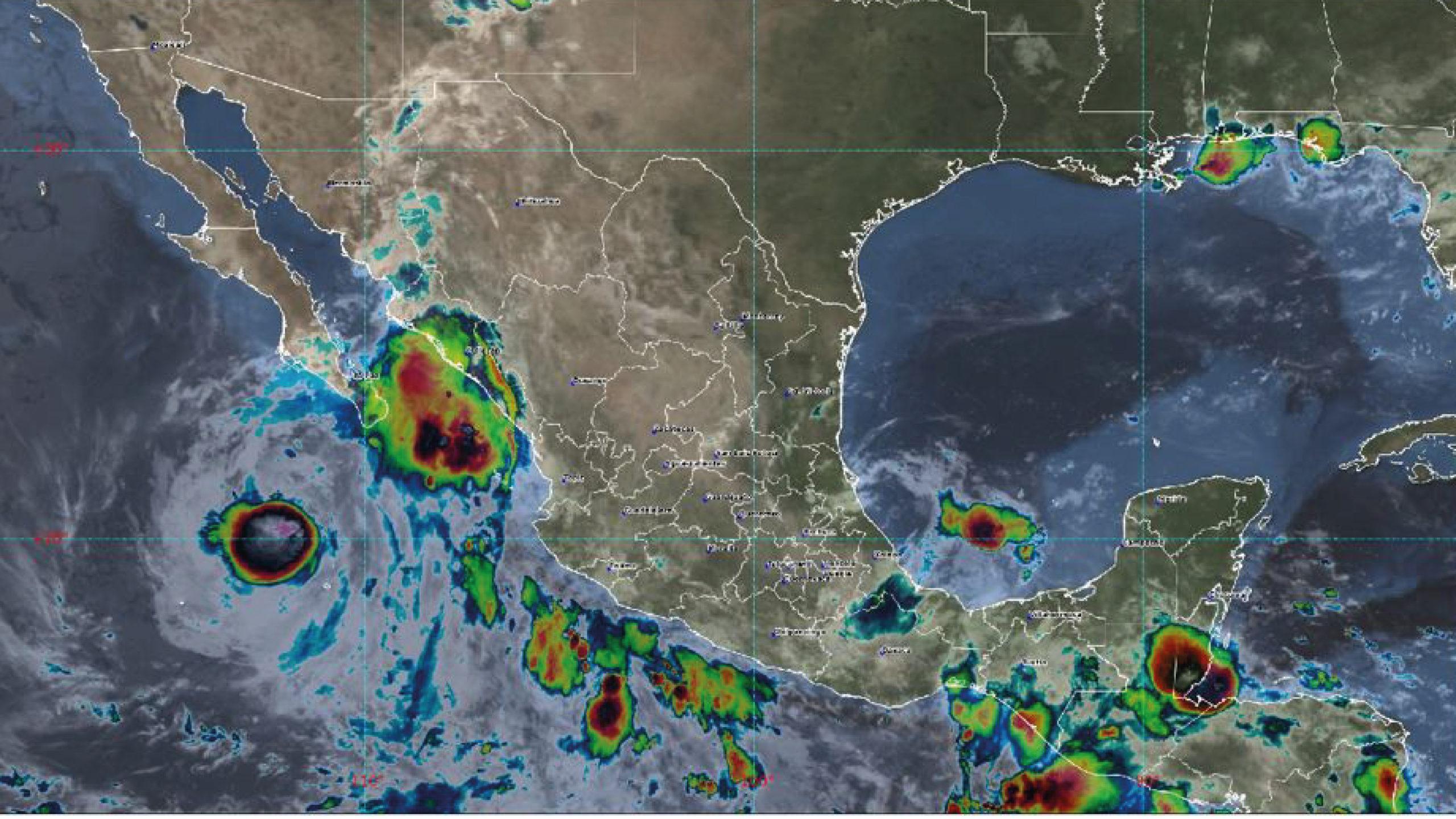 Se forma la tormenta Marty de remanentes de Grace; causa lluvias en estados del Pacífico