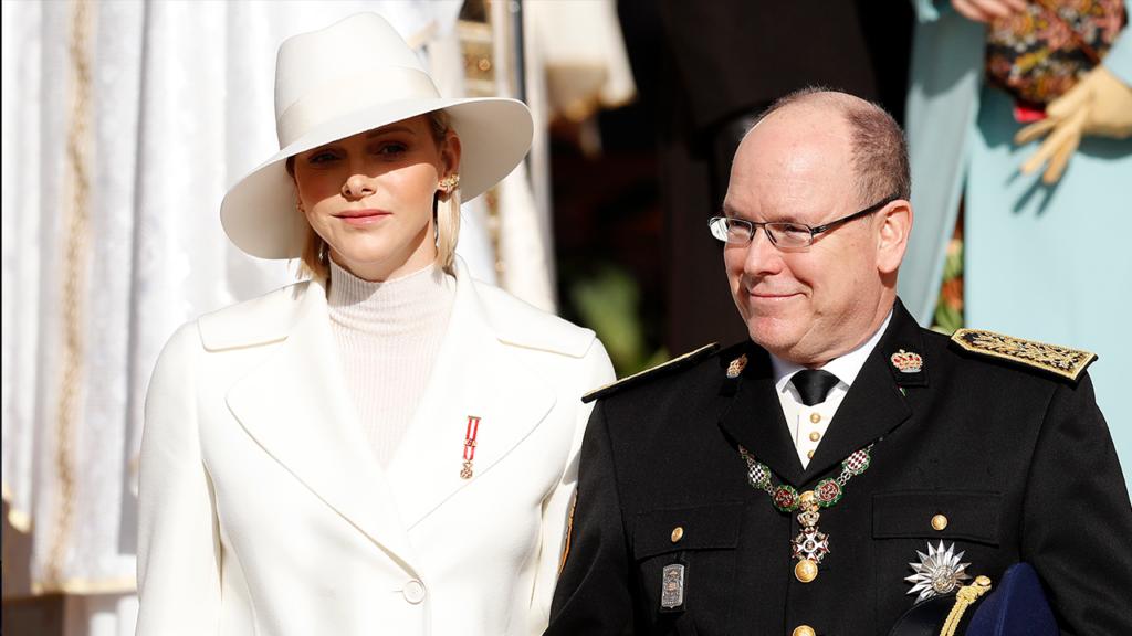 Charlene de Mónaco con el Príncipe