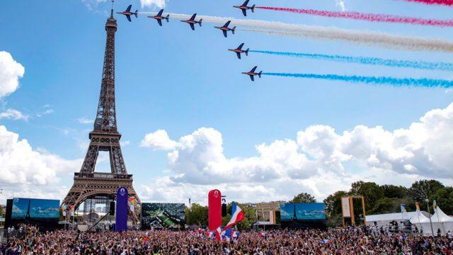 Festejo olimpiadas Paris 2024