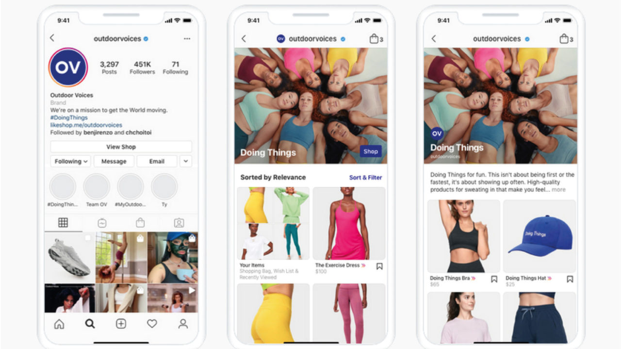 Instagram introduce anuncios en la pestaña Shop en todo el mundo
