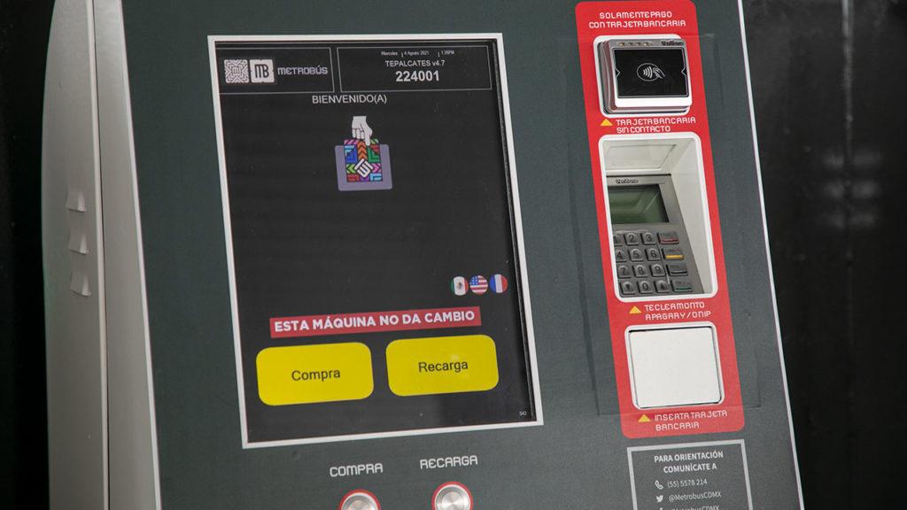 Maquinas de recarga con tarjeta bancaria Metrobus 2