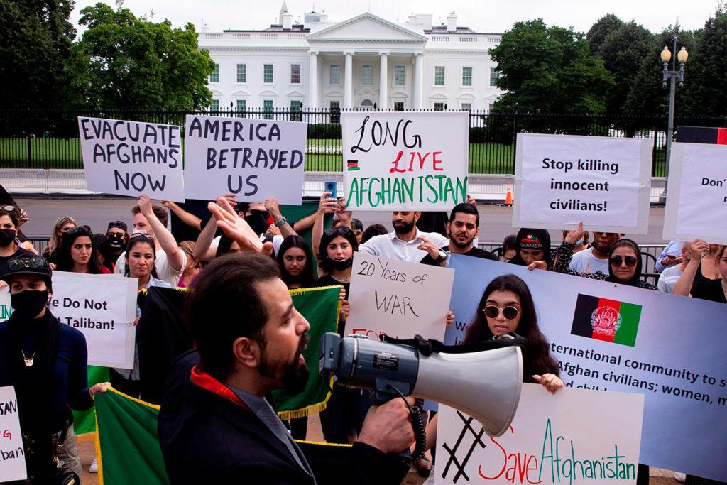 protesta en apoyo de Afganistán