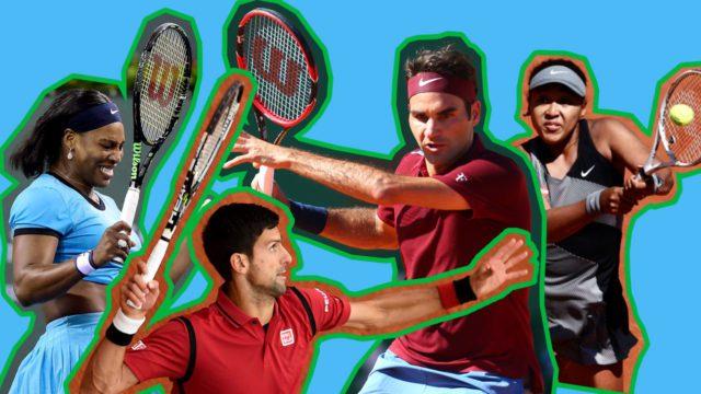 Serena Djokovic Federer Osaka
