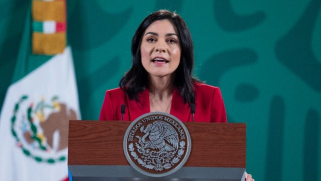 Ana García Vilchis, zarina anti fake news. Foto: Presidencia.