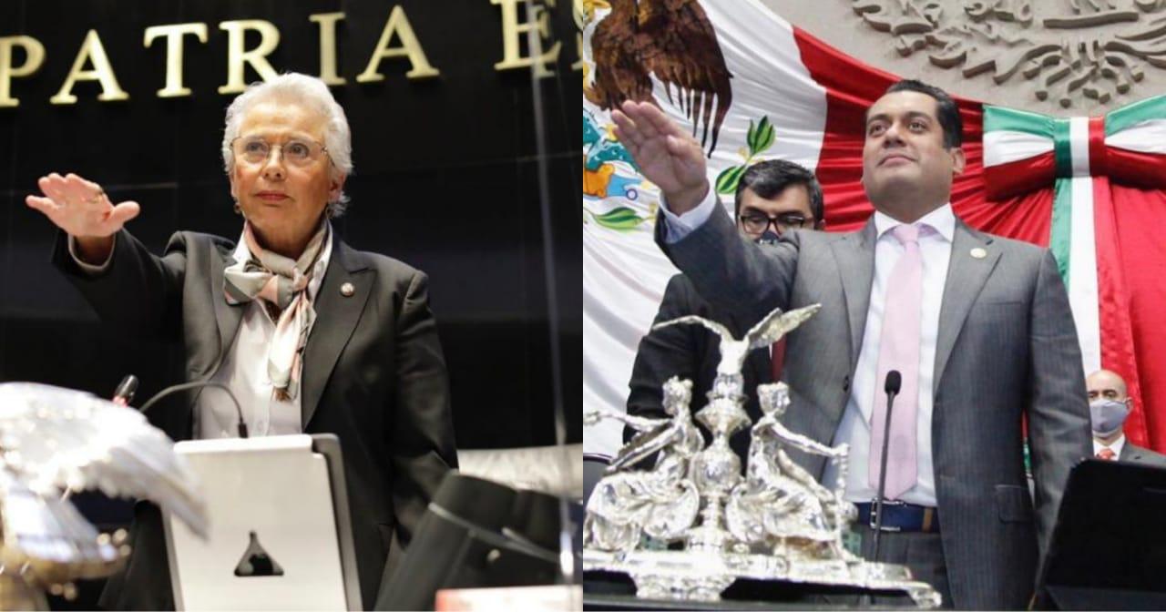 Eligen a Olga Sánchez Cordero y Sergio Gutiérrez como presidentes del Senado y de Diputados