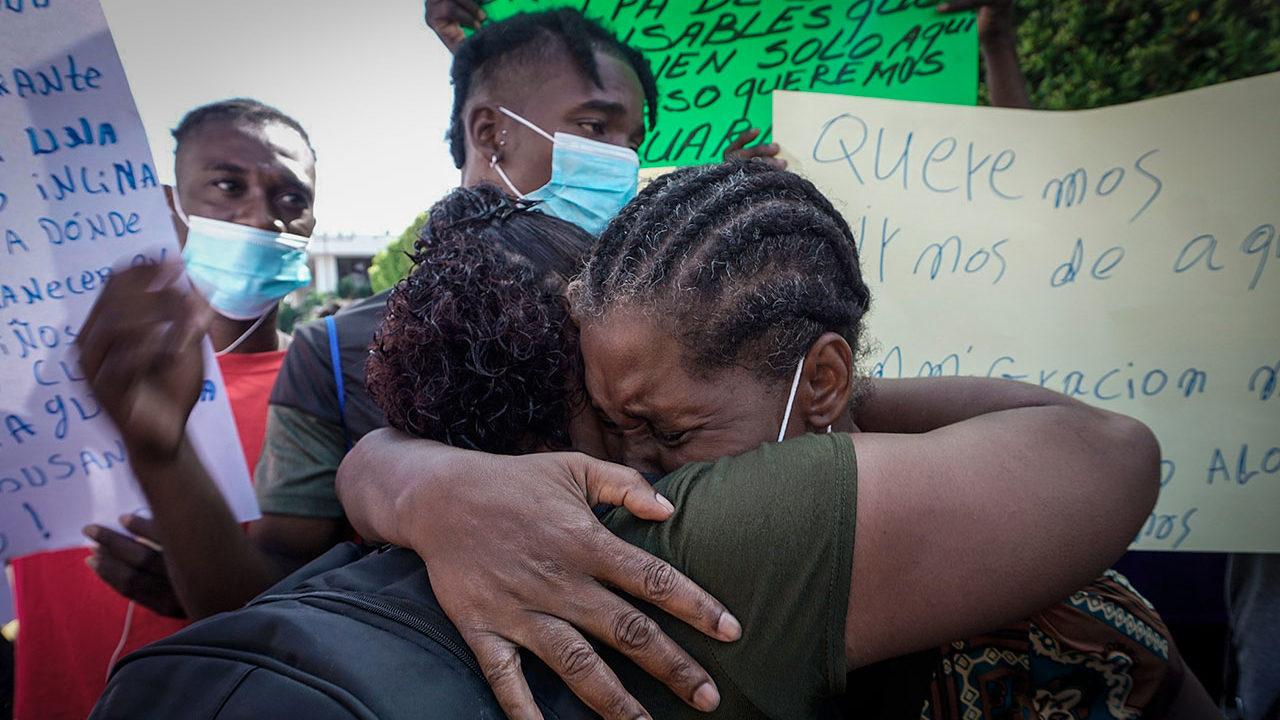 INM planea campamento para migrantes haitianos en Chiapas
