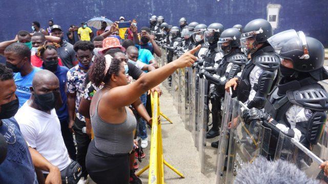 En las últimas semanas, migrantes se han manifestado en Chiapas. Foto: EFE