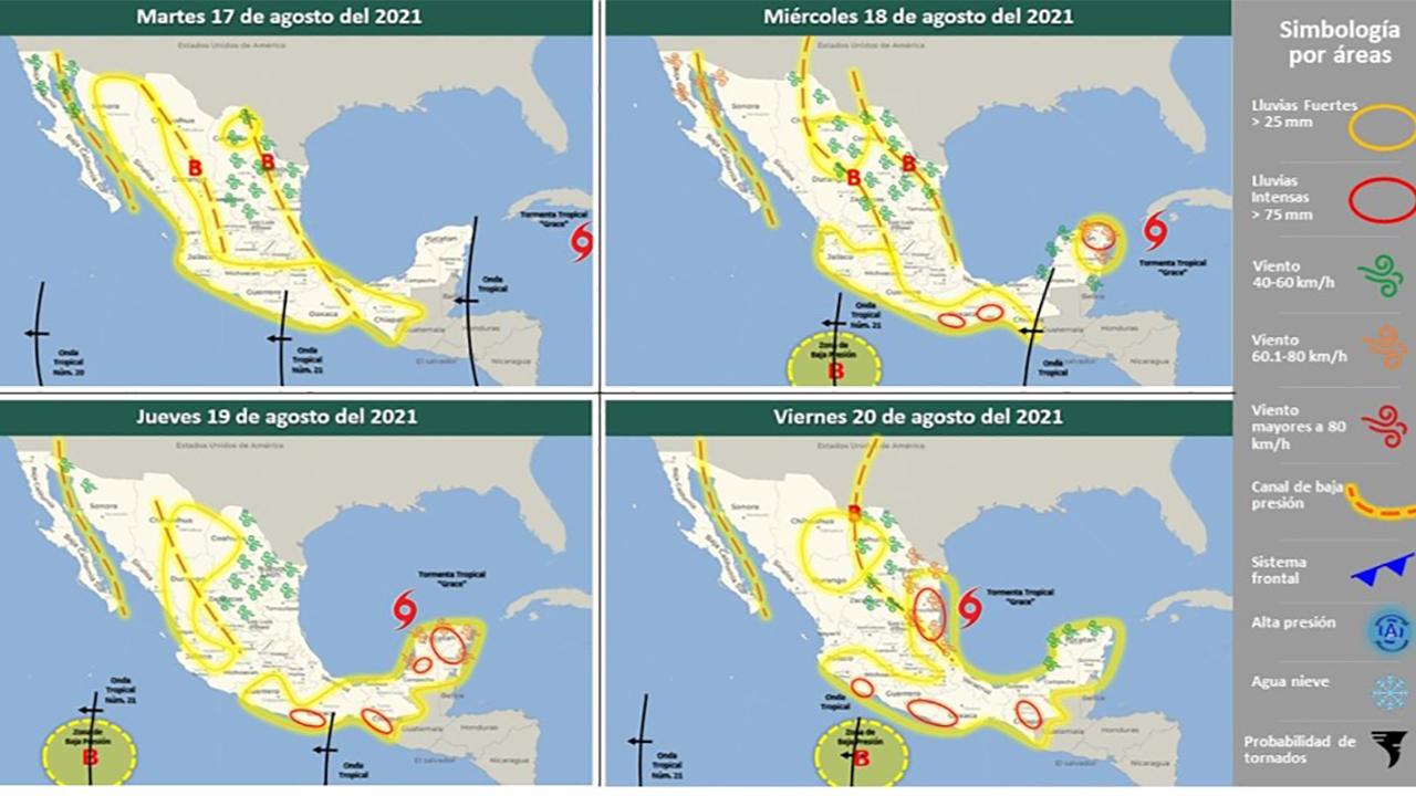 Grace podría alcanzar categoría 3 como huracán en México: SMN