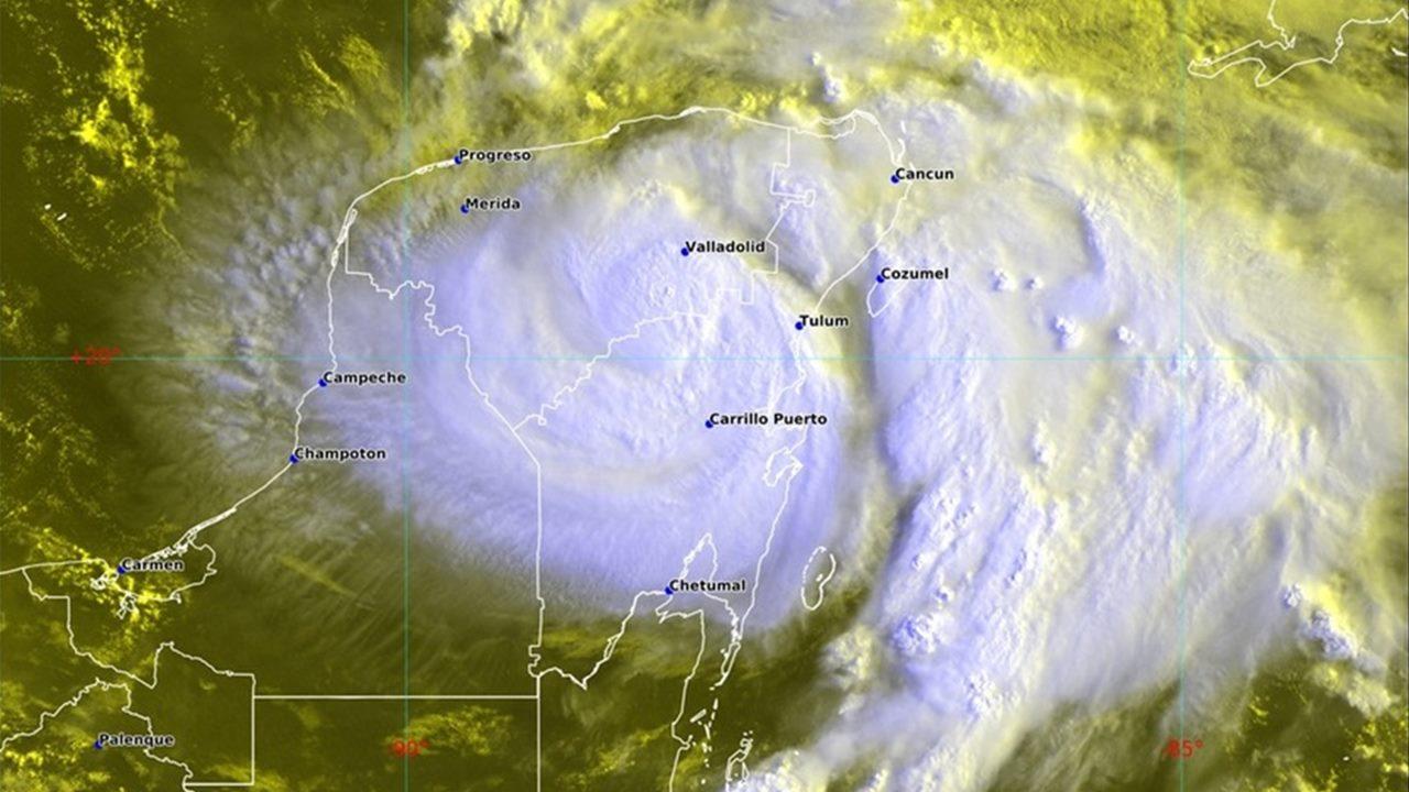 Huracán Grace impacta en QR y avanza hacia Veracruz para el fin de semana