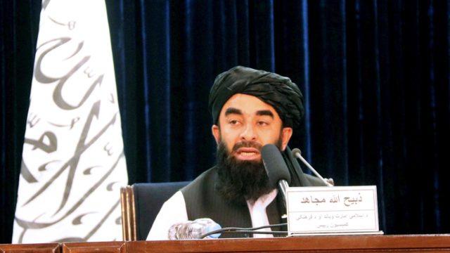 vocero talibanes Zabihullah Mujahid