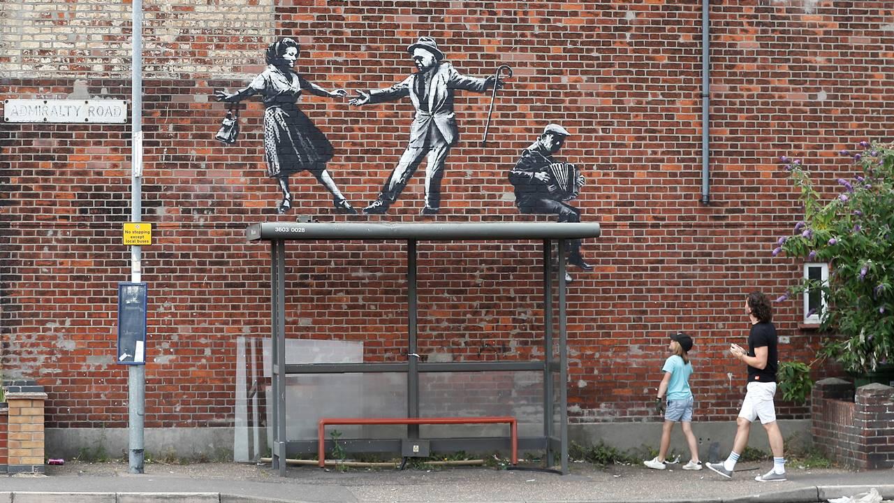 Aparecen supuestas obras de Banksy al este de Inglaterra