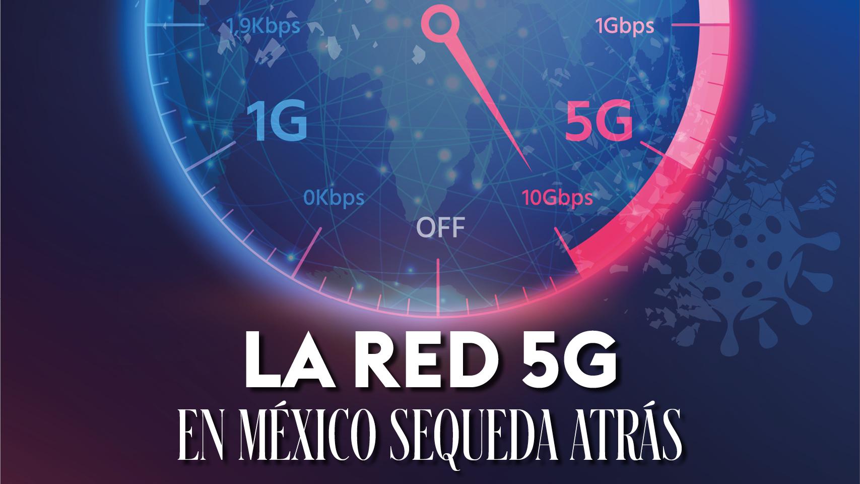 La red 5G en México se queda atrás