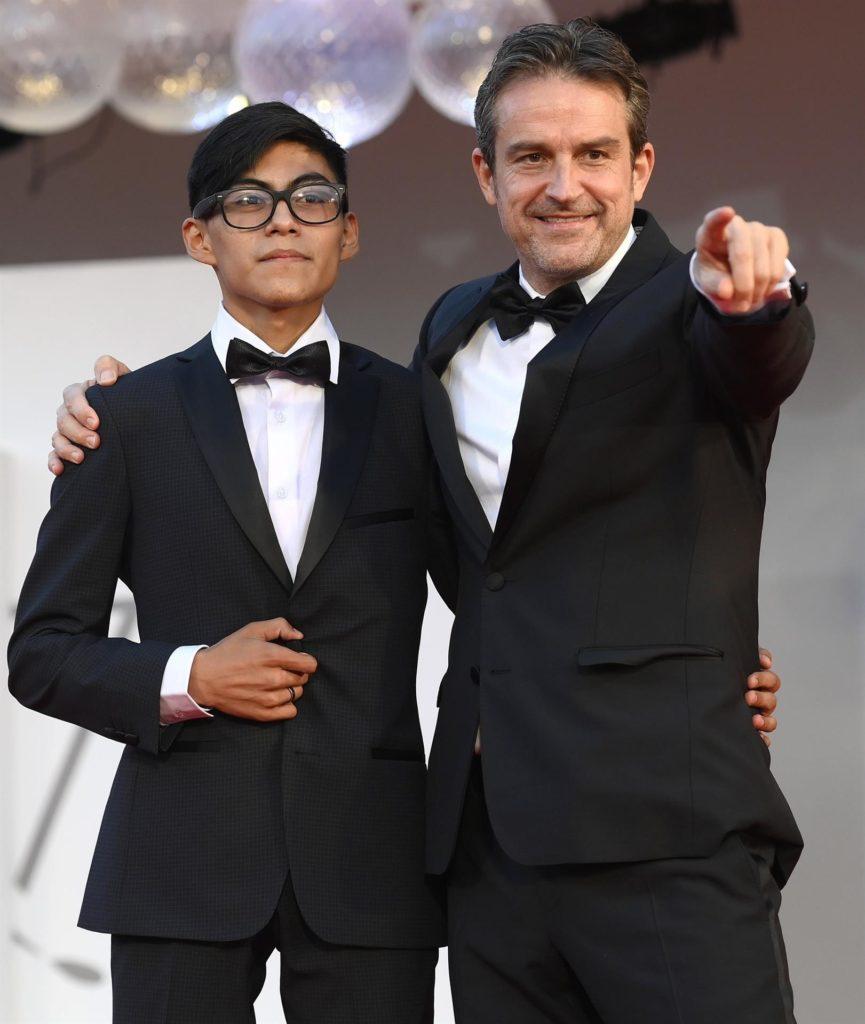 Hatzin Navarrete y Lorenzo Vigas en el 78 ° Festival Internacional de Cine de Venecia.