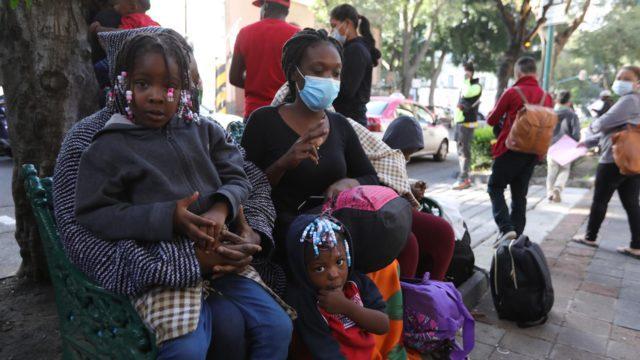 Ciudadanos haitianos en México. Foto: EFE