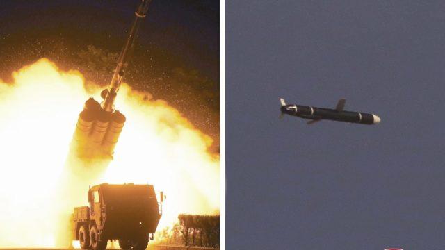 Corea misiles de crucero proyectiles
