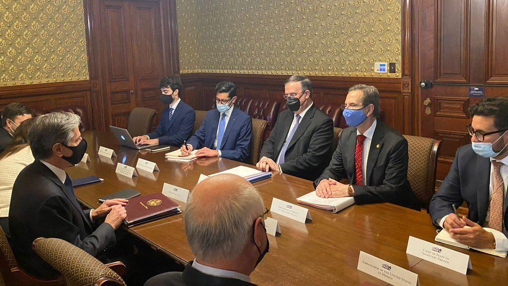 Marcelo Ebrard y Antony Blinken sostienen reunión bilateral