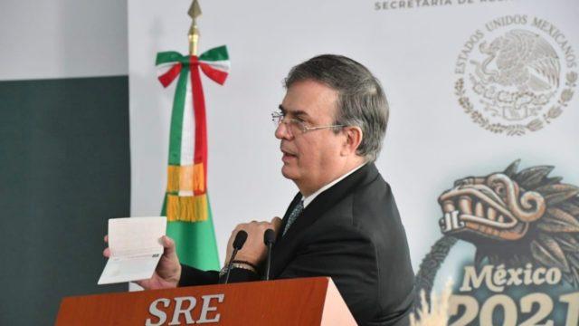 El canciller Marcelo Ebrard. Foto. SRE.