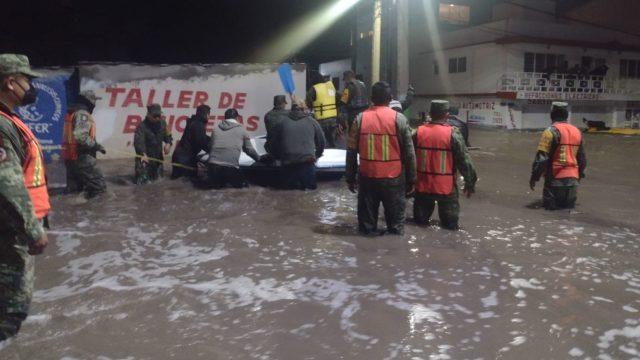 Inundaciones en Tula. Foto: Red de Periodistas de Hidalgo.