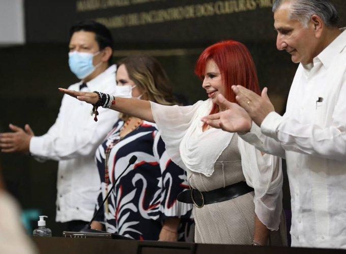 Layda Sansores toma protesta como gobernadora de Campeche