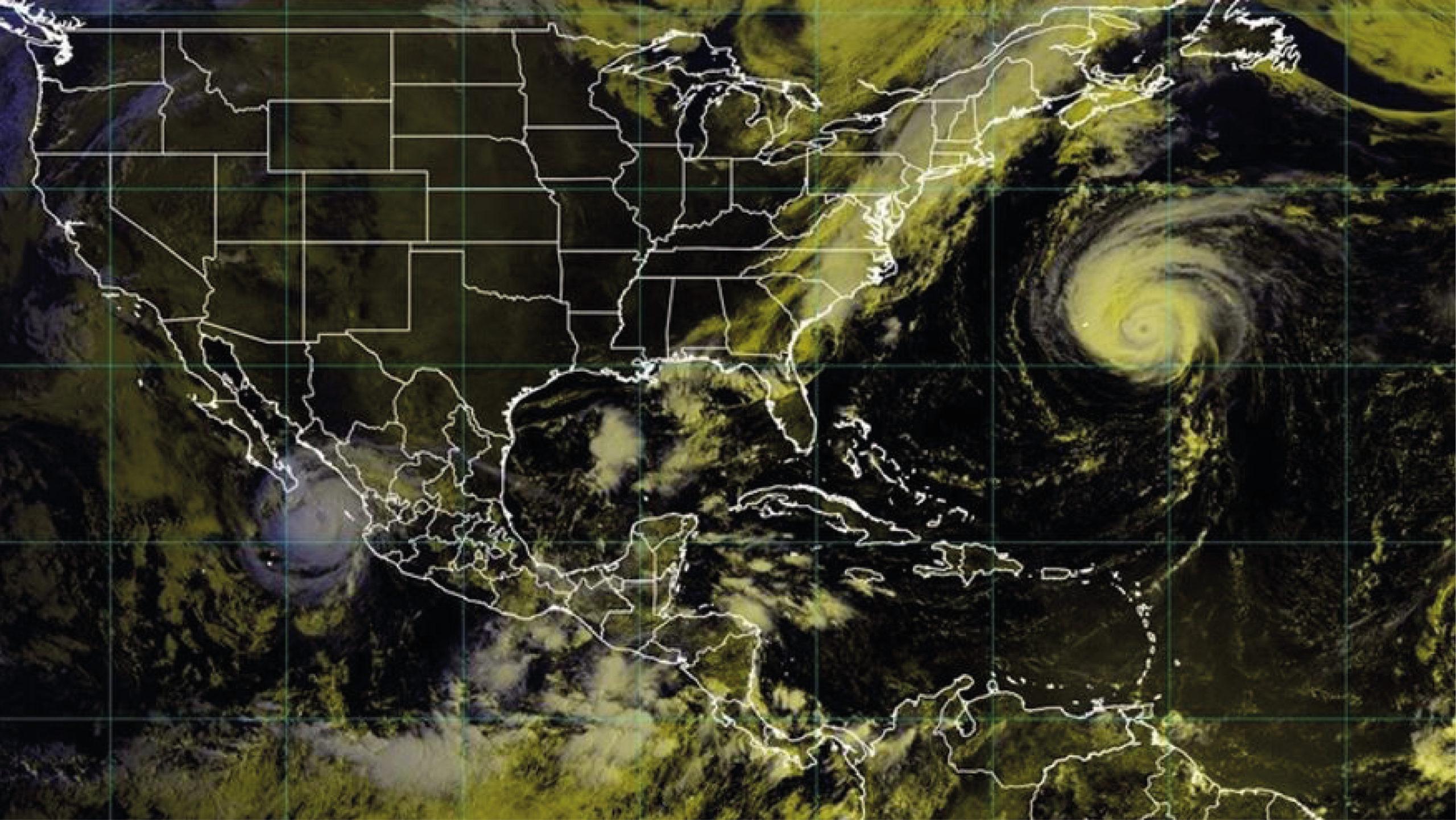 Olaf se convierte en huracán y se acerca a la península de Baja California