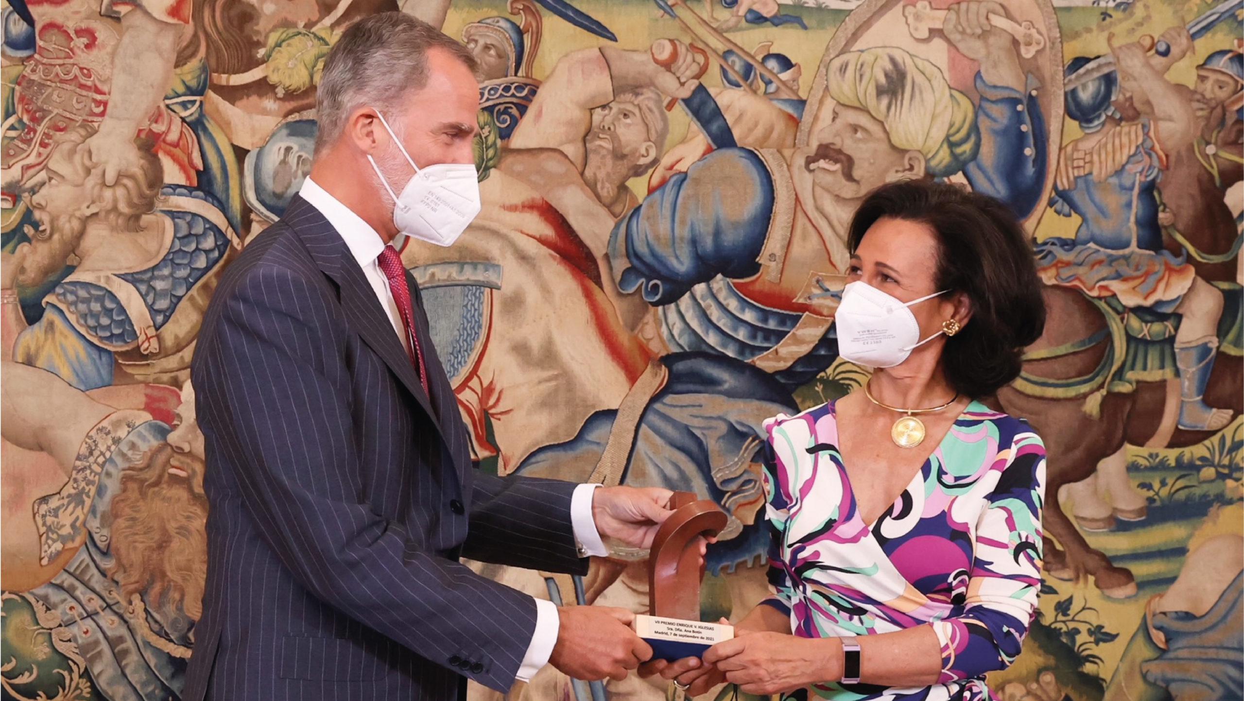 Ana Botín, presidenta del Banco Santander, recibe el premio Enrique Iglesias