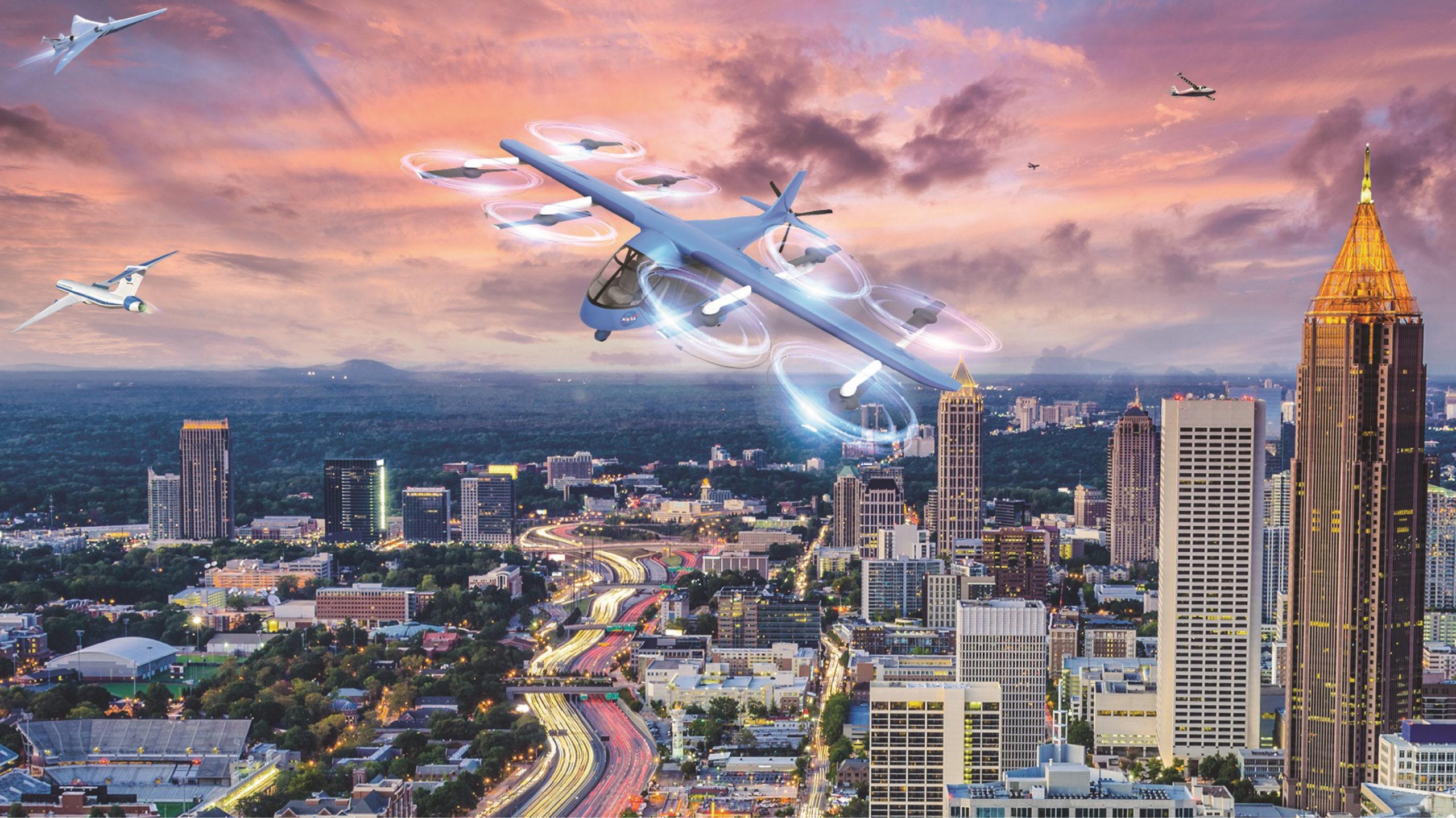La NASA comienza pruebas de taxis aéreos en California
