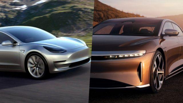 Tesla model 3 vs Lucid air