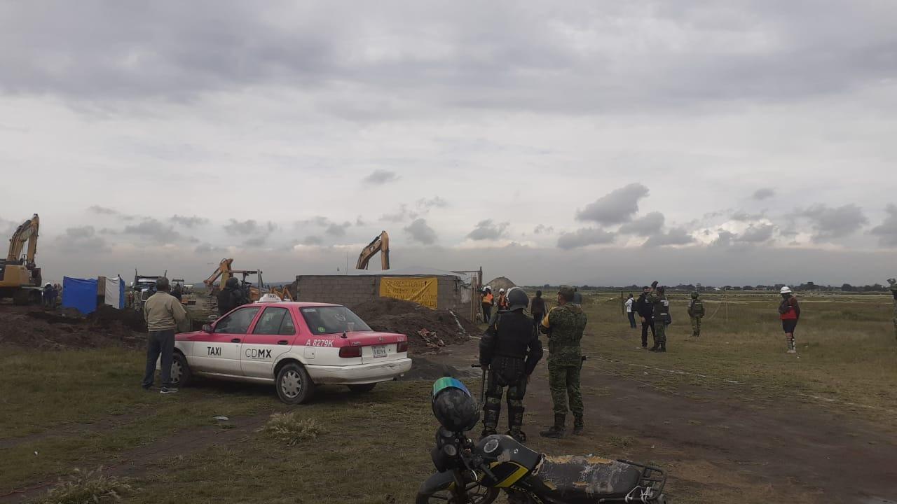 Vive Ejército protestas por invasión de terrenos y daño a vías en Santa Lucía