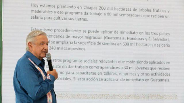 El presidente López Obrador en Oaxaca. Foto: Gobierno de México