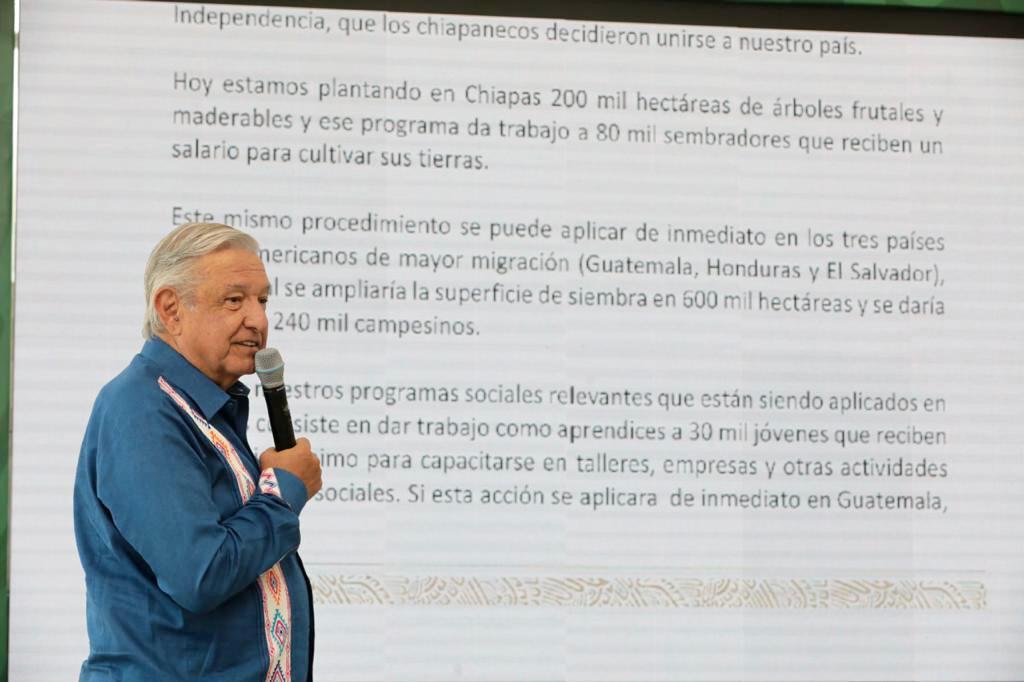 Programas sociales en Centroamérica retendrían a 330 mil personas, dice AMLO a Biden