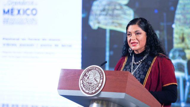 Alejandra Frausto, titular de Cultura. Foto: Presidencia