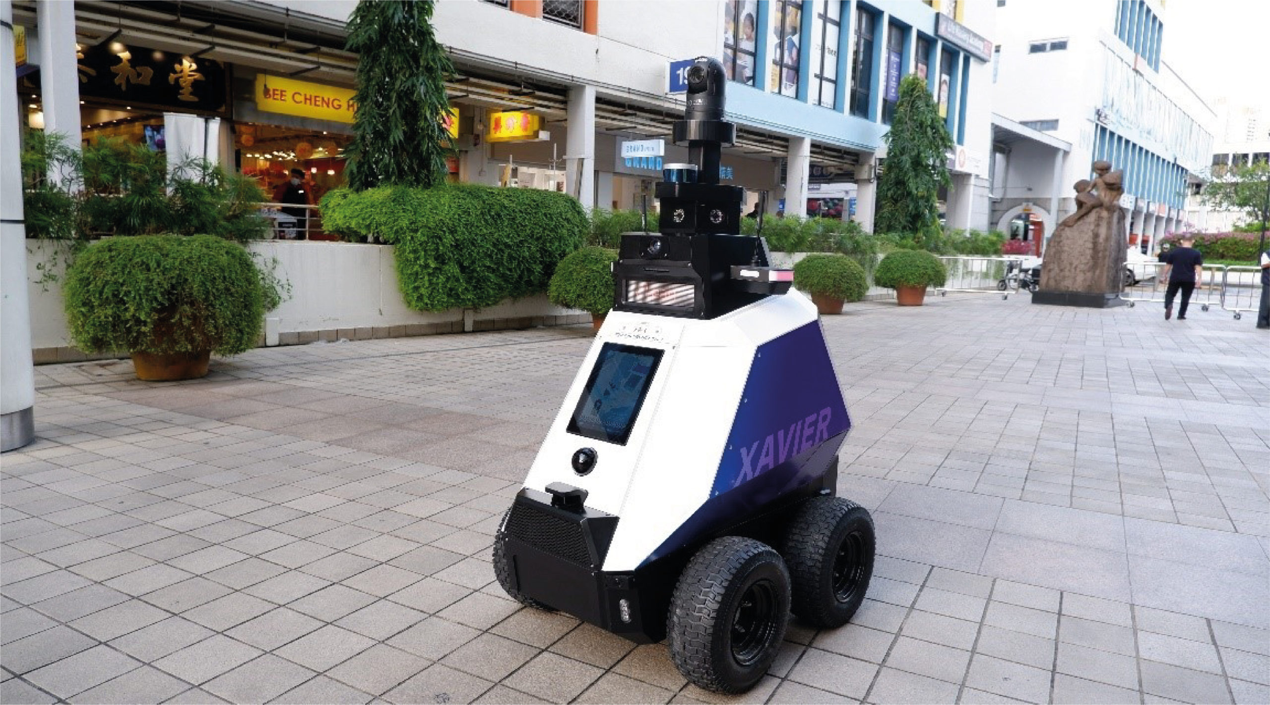 Singapur pone a prueba 2 robots autónomos de vigilancia