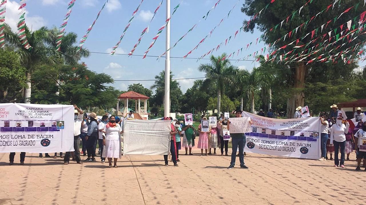 Yaquis protestan por desaparición de 10 integrantes hace 2 meses